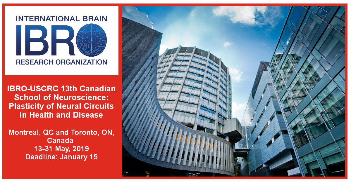 IBRO-USCRC 13th Canadian School of Neuroscience: Plasticity